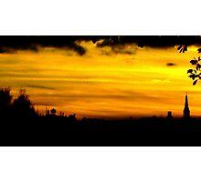 twilight in a golden haze Photographic Print