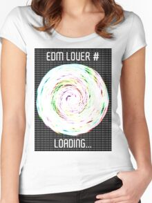 EDM Lover # Loading... Women's Fitted Scoop T-Shirt