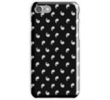 Black and white paisley bandana pattern iPhone Case/Skin