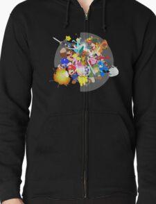 Smash 4 Vector Art Zipped Hoodie