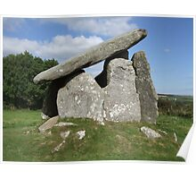 Trethevy Quoit on Bodmin Moor Poster