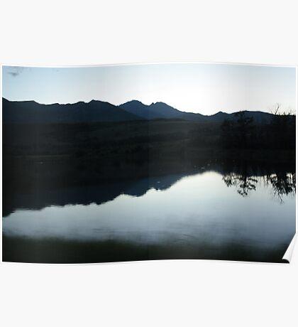 Mountain Silhouettes Poster