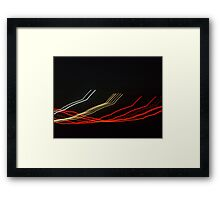 Ribbon pathways  Framed Print