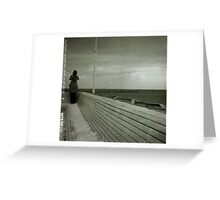 View on the sea of poland Greeting Card