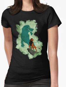 Scar smoke Womens Fitted T-Shirt