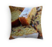 Orange & Prune Cake Throw Pillow