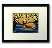This is the life!  Bird series, watercolor Framed Print