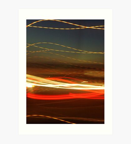 Ribbon light sunset  Art Print