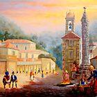 Praça do Mercado de Sintra - Market Square of Sintra - Place du Marché # Óleo sobre tela / Oil on canvas  by PedroAtanasio