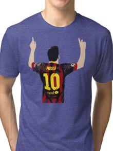 Messi after GOAL!! Tri-blend T-Shirt