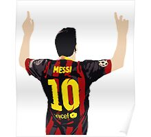 Messi after GOAL!! Poster
