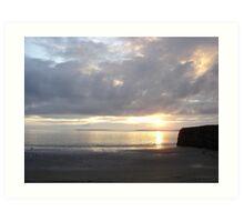 Sunset in Ballybunion, Kerry, Ireland Art Print