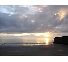 Sunset in Ballybunion, Kerry, Ireland Photographic Print