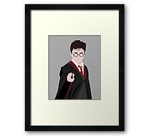 Harry Potter Silhouette Framed Print