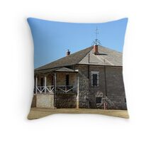 Fort Sill Post Guardhouse Throw Pillow