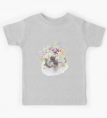 Puppies and flower Kids Tee