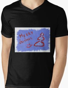 Xmas background Mens V-Neck T-Shirt