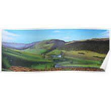 'Distant Hills'  Snowdonia Poster