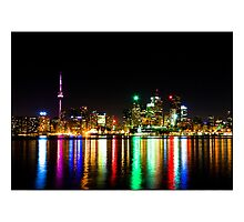 Toronto Skyline Night by Brian Carson
