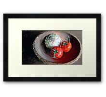Onion and Tomatoes Framed Print