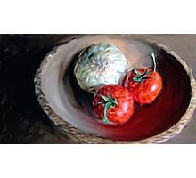Onion and Tomatoes Photographic Print