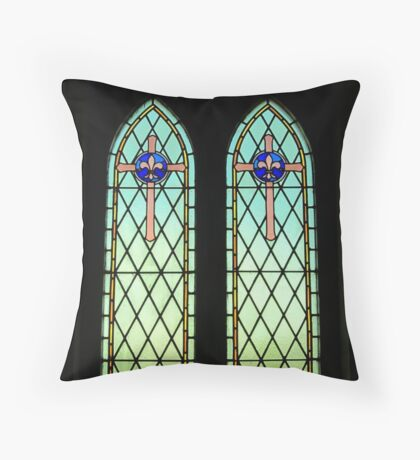 Stains in the Glass Throw Pillow