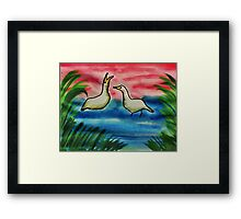 Why are you squawking again? Bird series, watrcolor Framed Print