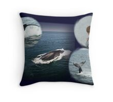 Whale Watch Collage! Throw Pillow