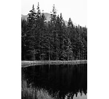 Black and White Lake Photographic Print
