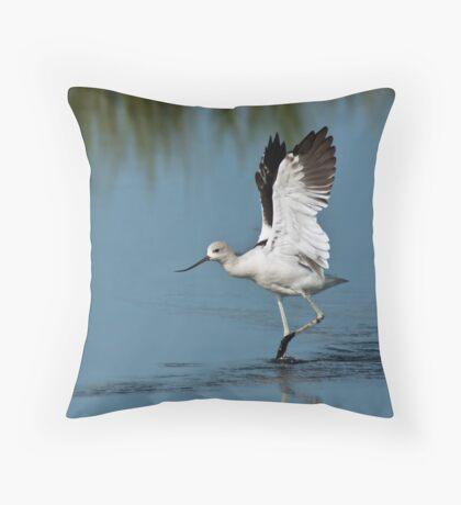 American Avocet Throw Pillow
