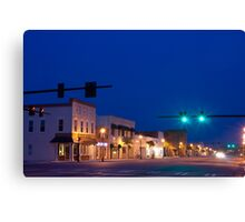 Blue Sunset Over Small Town America Canvas Print