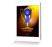 First Place Trophy Greeting Card