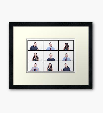 brady bunch johnsons Framed Print