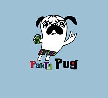 Party Pug on colors Unisex T-Shirt