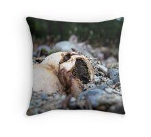 Yawning Mushroom Throw Pillow