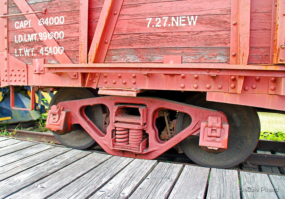 Red Railway Car - Smith's Falls Railway Museum, Ontario by Debbie Pinard