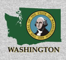 Washington state flag Kids Tee