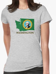 Washington state flag Womens Fitted T-Shirt