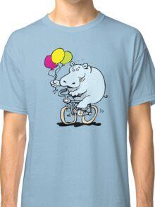 hippo on a bike Classic T-Shirt