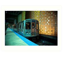 A Blue Line Train to Forrest Park Art Print