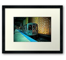 A Blue Line Train to Forrest Park Framed Print