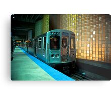 A Blue Line Train to Forrest Park Metal Print