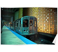 A Blue Line Train to Forrest Park Poster