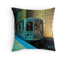 A Blue Line Train to Forrest Park Throw Pillow