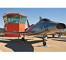 #52-5755 YF-100A Super Sabre side shot Photographic Print