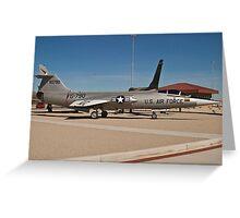 #56-0790 YF-104G Starfighter wide shot Greeting Card