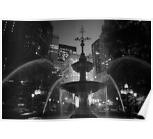 City Hall Fountain - New York City Poster