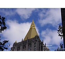 GOLDEN TOP EDIFICE Photographic Print
