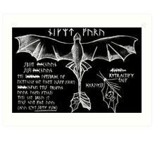 Dragon Flying 101 Art Print