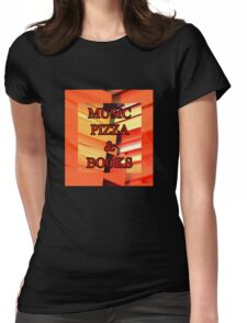 Music Pizza & Books Womens Fitted T-Shirt